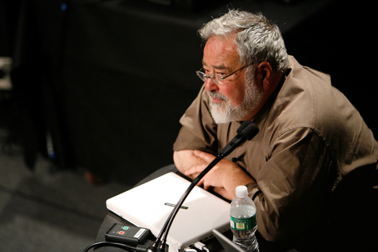George Lakoff delivers a lecture