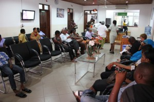 CCBRT Disability Hospital waiting room, Source: Department of Foreign Affairs