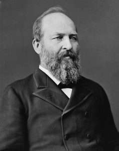 Freedom-hater James A. Garfield courtesy of Library of Congress.