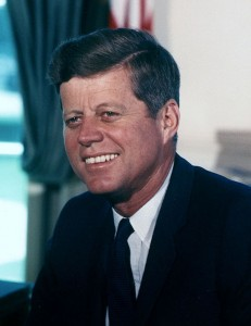John F. Kennedy, soft on crime by Cecil Stoughton, White House.