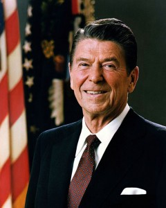 Official 1981 portrait of President Reagan, deficit-spending libtard.