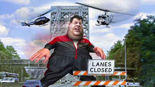 Bridgegate collage featuring New Jersey Governor Chris Christie as infamous micromanager Tony Soprano (DonkeyHotey/Flickr)