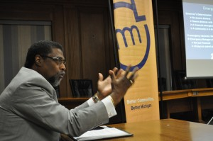 Darnell Earley, first emergency manager of Flint, when he was Saginaw City Manager (Michigan Municipal League/Flickr).