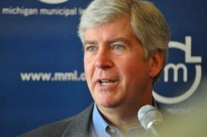 Michigan Governor Rick Snyder (by Michigan Municipal League)