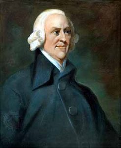 Portrait of Adam Smith (1723-1790).