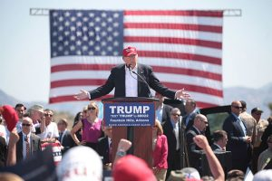 Trump speaks at an Arizona rally in March 2016. (Gage Skidmore/Wikimedia)